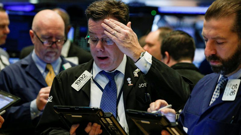 Stocks – Dow  S&P Suffer Biggest One-Day Loss in Two Years on Virus Fear Selling